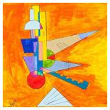 """Russian Oil on Canvas Signed """"Kandinsky"""""""