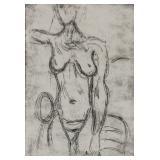 Swiss Linocut XIII/XX Signed Alberto Giacometti