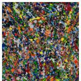American Acrylic on Board Signed Jackson Pollock
