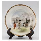 Japanese Gilt Satsuma Porcelain Saucer Hayakawa MK