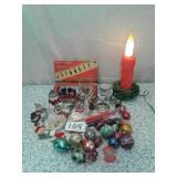 LOT OF CHRISTMAS DECOR - SALT N PEPPER SHAKERS,