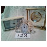 STAGER LEAD CRYSTAL CLOCK, AIRGUIDE INSTRUMENT,