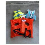 NEW AND USED LIFE JACKETS