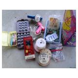 BAG OF CRAFT AND SEWING SUPPLIES