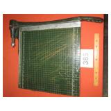 "HEAVY OLD PAPER CUTTER 16"" X 16"""