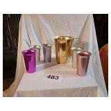 RETRO COLORED ALUMINUM PITCHER & CUPS