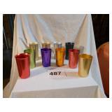 RETRO COLORED ALUMINUM CUPS