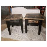 TWO END TABLES WITH DRAWERS 2