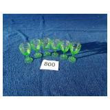Green depression goblets