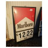 Marlboro cigarette   Gas station  Sign