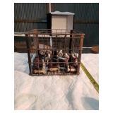 Insulators & metal milk crate