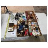 Miniatures, perfume bottles, iron,mixer
