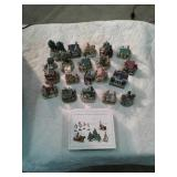 LIBERTY FALLS COLLECTION MINATURES WITH PEWTER