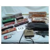 VTG TYCO TRAIN ATLAS TRACK AND CARS - UNTESTED