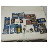 NASCAR Wincraft Sports keychains, hat pins,