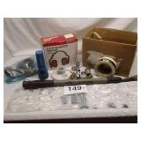 BOX OF MISC ITEMS - ELECTRICAL, EXT CORDS,