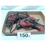 2 - SKIL 3/8 ELECTRIC DRILLS 1 WORKS 1 DOESNT