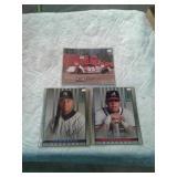 Baseball portraits an autographed NASCAR