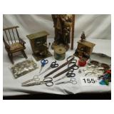 STATUE, MUSICAL PIANO PLAYERS, SEWING ITEMS, ETC