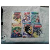 Comic books Mickey Mouse, Shadow Man, Wildcats,