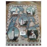 """LIGHTHOUSE WALL HANGING 35 1/2"""" X 25 1/2"""""""