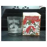 EARLY TIMES HOLIDAY COLLECTORS GLASS