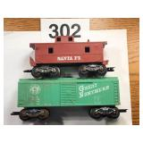 EARLY TRAIN CARS MADE IN USA