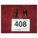 VINTAGE IRON TOY SOLDIERS