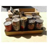 ADVERTISING METAL CANS, MARATHON, LUBES, TEXACO