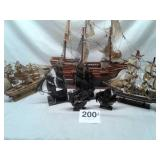 LOT OF SHIPS WOOD (SOME NEEDS REPAIRED) AND VTG