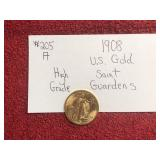 1908 US GOLD SAINT GUARDENS