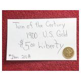 1900 TURN OF THE CENTURY US GOLD LIBERTY