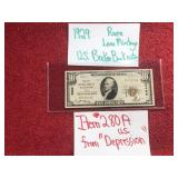 1929 RARE LOW MINTAGE US BROKER BANK NOTE