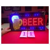 LED BEER SIGN, NEW IN BOX