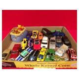FLAT OF TOY CARS & TRUCKS