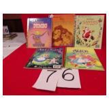 5 DISNEY GOLDEN BOOKS, VG CONDITION