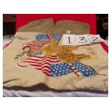 2 VERY OLD MILITARY HATS & PILLOWCASE?
