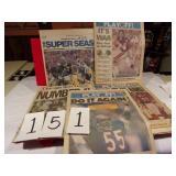 5) 1986 BEARS SUN TIMS SOUVENIR PAPERS