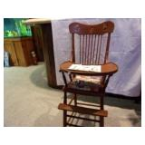 OLD WOOD HIGH CHAIR 1950