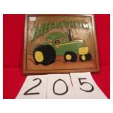 WOOD CARVED TRACTOR