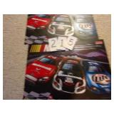 2 PLASTIC NASCAR ADVERTISING POSTERS