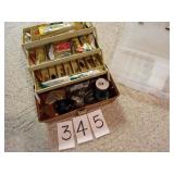 TACKLE BOX FULL WITH BAIT STORAGE BOX