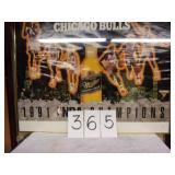 FRAMED 1991 BULL CHAMP POSTER