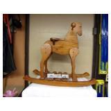 WOOD ROCKIN HORSE