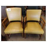 2 WOOD ARM CHAIRS