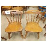2 WOOD EARLY AMERICAN CHAIRS