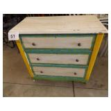 ANTIQUE 3 DRAWER DRESSER