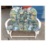 LOVESEAT GLIDER W/CUSHIONS