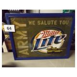 ARMY MILLER LITE SIGN