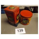 2 RITZ CRACKER TINS